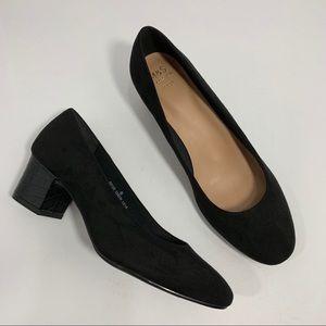 M&S Collection SZ 6 Wide Pump Block Heels Boho